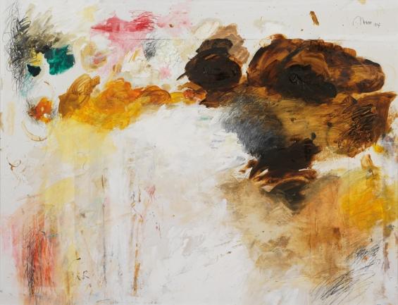 Ohne Titel | Öl, ÖP und Bleistift auf Pappe | 63 x 82 cm | gerahmt | 2007