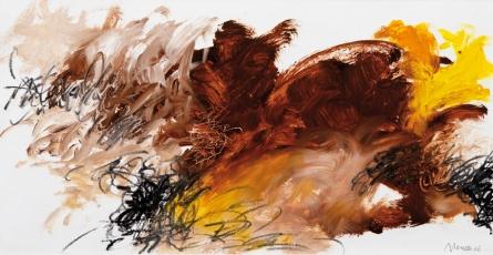 Ohne Titel | Öl und Ölpastell auf Leinwand | 25 x 47,5 cm | 2006
