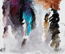 Ohne Titel | Öl und Ölpastell auf Leinwand | 31,5 x 37,5 cm | 2006