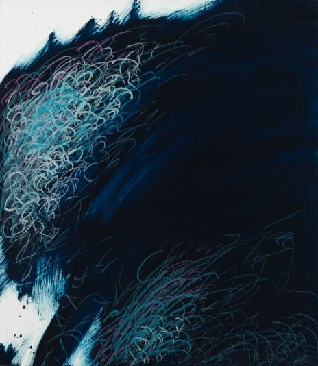 »Nachtgedanken« 3 | Öl und Ölpastel auf Tischlerplatte | 50,5 x 44 cm | 2003
