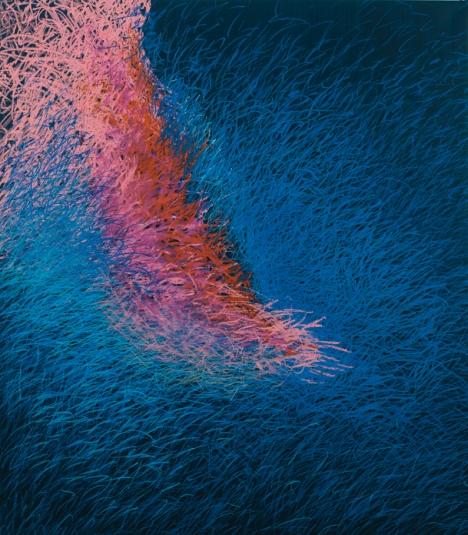 »Nachtgedanken« 9, 2teilig, Teil 1 | Öl und Ölpastel auf Leinwand | 120 x 105 cm | 2007